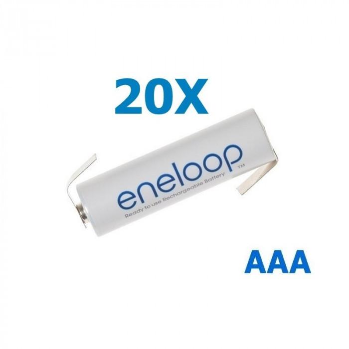 Panasonic Eneloop AAA R3 cu urechi de lipire Set 20 Bucăți, Tip Urechi de lipire in Z
