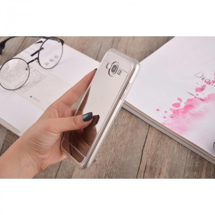 2in1 Oglindă si Husă pentru Samsung Galaxy S8 Culoare Argint