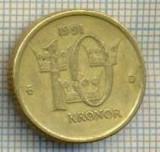 11238 MONEDA -SUEDIA(SVERIGE) - 10 KRONOR -ANUL 1991MEDAL -STAREA CARE SE VEDE, Europa