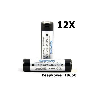 KeepPower 18650 2600mAh baterie reîncărcabilă Set 12 Bucăți foto