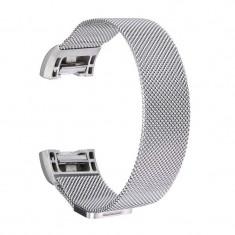 Bratara metalica pentru Fitbit Charge 2 cu inchide Culoare Argint, Mărime S (Small)