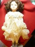 Papusa -Dolls of Distinction -hand-made ,cap ,maini picioare portelan ,h= 40cm