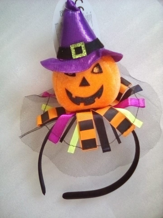 Decor Halloween -  cordeluta cu dovleac