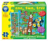 Puzzle De Podea Invatam Sa Numaram (30 Piese - Poster Inclus) One Two Three, orchard toys