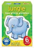 Set 6 Puzzle Jungla (2 Piese) Jungle, orchard toys