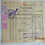 Fiscalitate. Factura cu timbre fiscala Mihai I. 1946/1947.