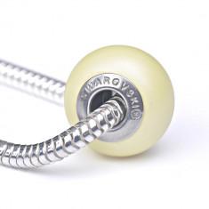 Sorana -Talisman Compatibil cu Bratarile Tip Pandora din Cristale Swarovski - Pastel Yellow, BijouxMAG