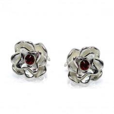 Katy - Cercei Floare Argint si Zirconiu, BijouxMAG