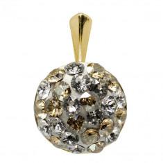 Adelaide - Pandantiv Ceralun, Argint Placat cu Aur si Cristale Swarovski, BijouxMAG