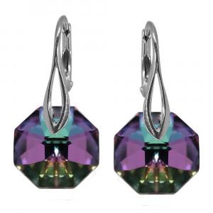 Octogonia - Cercei Argint si Cristale Swarovski-Vitrail Light, BijouxMAG
