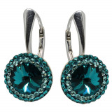 Aldora - Cercei Argint si Cristale Swarovski - Blue Zircon