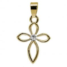 Anastasia - Pandantiv Argint Placat cu Aur si Cristale Swarovski, BijouxMAG