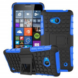 Husa Microsoft Lumia 640 Armor KickStand Black Blue