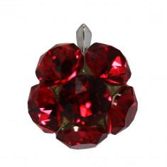 Beatrix - Pandantiv Argint si Cristale Swarovski - Scarlet, BijouxMAG