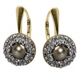 Lucrezia - Cercei Argint Placat cu Aur, Perle si Cristale Swarovski, BijouxMAG