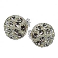 Edith - Cercei Argint, Perle si Cristale Swarovski, BijouxMAG