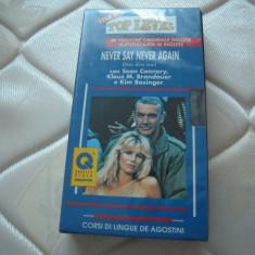 Caseta video originala seria James Bond (Sean Connery), provenienta Italia, Italiana