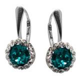 Ariana - Cercei Argint si Cristale Swarovski - Blue Zircon