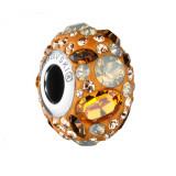 Kyte -Talisman Compatibil cu Bratarile Tip Pandora din Cristale Swarovski - Topaz, BijouxMAG