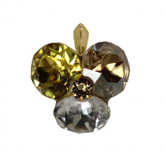 Faust - Pandantiv Argint Placat cu Aur si Cristale Swarovski, BijouxMAG