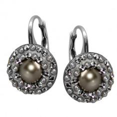 Lucrezia - Cercei Argint, Perle si Cristale Swarovski, BijouxMAG