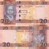 SUDANUL DE SUD 20 pounds 2017 UNC!!!