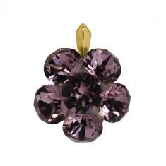 Dollie - Pandantiv Argint Placat cu Aur si Cristale Swarovski, BijouxMAG