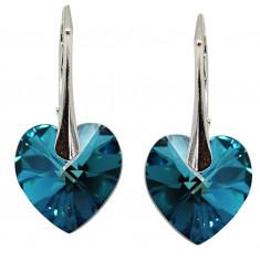 Amira - Cercei Swarovski si Argint - Bermuda Blue, BijouxMAG
