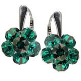 Clover - Cercei Argint Cristale Swarovski - Emerald, BijouxMAG