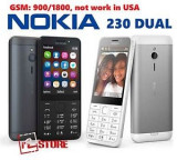 Telefon mobil Nokia 230 Dual Sim Black&White Nou Sigilat P214, Negru, Neblocat