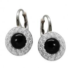 Divine - Cercei Argint Perle si Cristale Swarovski , BijouxMAG
