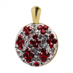 Folcloric - Pandantiv Argint Placat cu Aur si Cristale Swarovski , BijouxMAG
