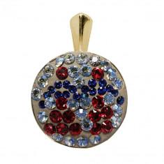 Valeria - Pandantiv Argint Placat cu Aur si Cristale Swarovski, BijouxMAG