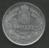 ROMANIA  MIHAI I  250 LEI 1941  NSD , XF+ ,  Argint 835 / 1000 - liv in cartonas