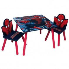 Set masuta si 2 scaunele Spiderman
