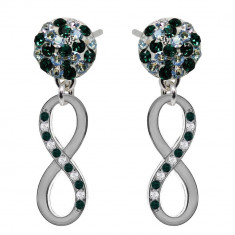 Nicoleta - Cercei Argint si Cristale Swarovski , BijouxMAG