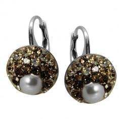 Rachel - Cercei Argint, Perle si Cristale Swarovski, BijouxMAG