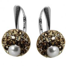 Rachel- Cercei Argint, Perle si Cristale Swarovski, BijouxMAG