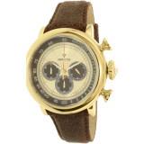 Ceas barbatesc Invicta Vintage 13058 auriu Leather Quartz 13058