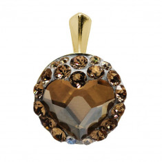 Loveful - Pandantiv Argint Placat cu Aur si Cristale Swarovski , BijouxMAG