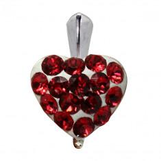 Mara - Pandantiv Ceralun, Argint si Cristale Swarovski - Scarlet, BijouxMAG