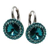 Aldora - Cercei Ceralun, Argint si Cristale Swarovski - Blue Zircon