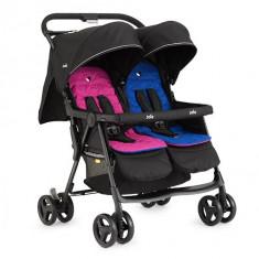 Carucior pentru gemeni Aire Twin Pink/Blue Joie