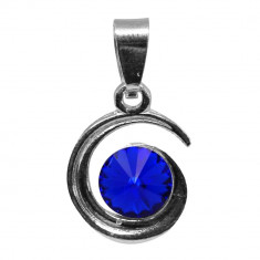 Simone - Pandantiv Argint si Cristale Swarovski -Majestique blue, BijouxMAG