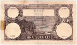 Bancnota 100 lei februarie 19 II 1940 filigran BNR