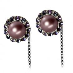 Angeline - Cercei Argint,Perle si Cristale Swarovski, BijouxMAG