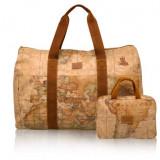 ALVIERO MARTINI - Geo Soft Travel Bag 1'Classe - Geanta de voiaj + Borseta -NOUA, Din imagine, Asemanator piele