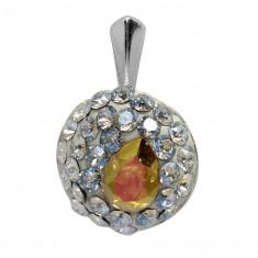 Ada - Pandantiv Ceralun, Argint si Cristale Swarovski, BijouxMAG