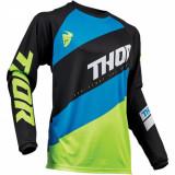 Tricou motocross copii Thor Sector Shear negru/verde marime M Cod Produs: MX_NEW 29121681PE