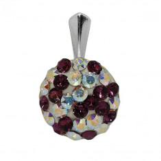 Zenobia - Pandantiv Argint, Ceralun si Cristale Swarovski, BijouxMAG